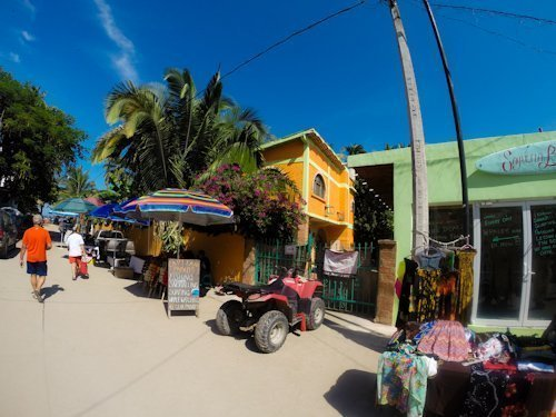 colorful buildings on the streets of Sayulita, Mexico