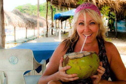 Refreshing coconut after Puerto Vallarta hike