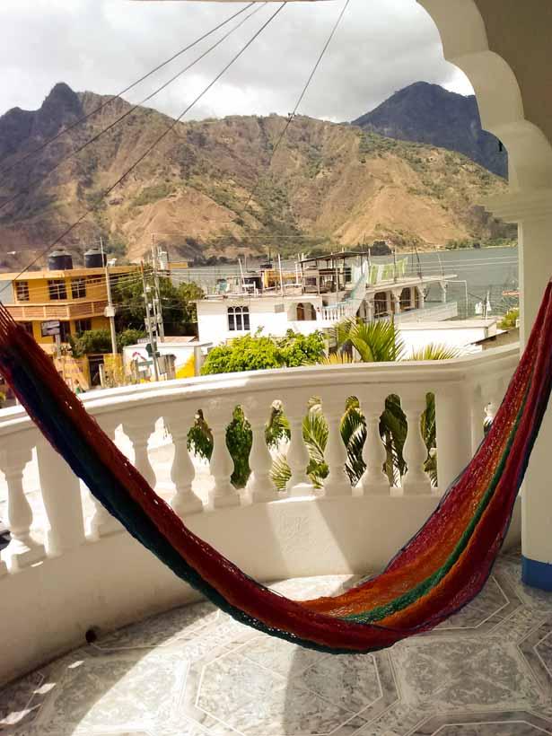 View from our verandah at Hotel Nuala Maya