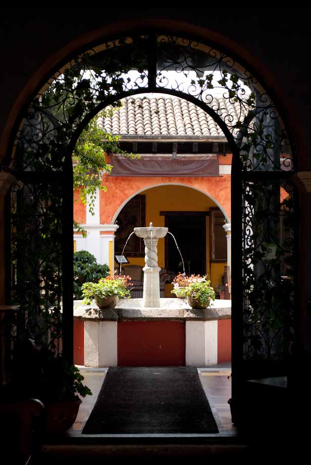 One of many lovely courtyards in Antigua