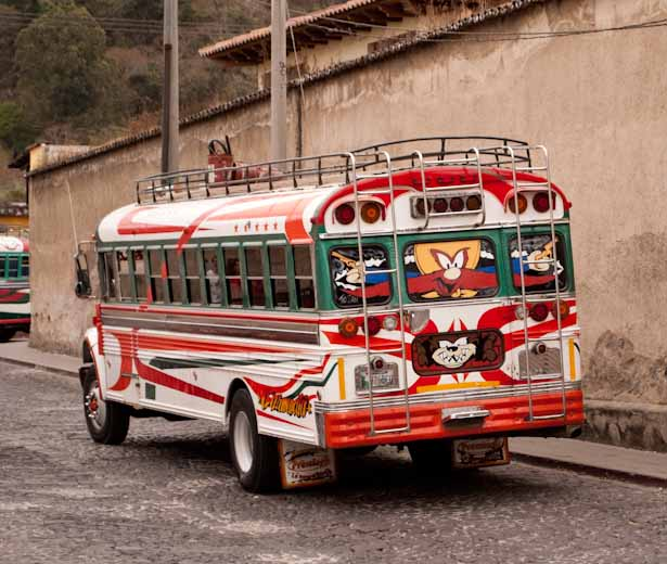 Guatemalan chicken bus