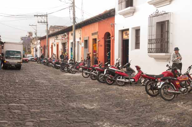Motorbikes are the popular mode of transportation in Antigua