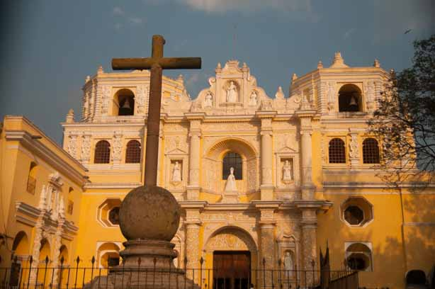 One of the beautiful churches in Antigua