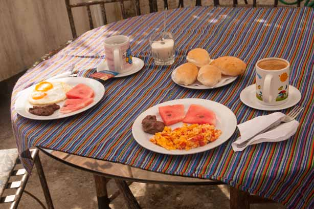 Breakfast at Hostal Casa la Asuncion