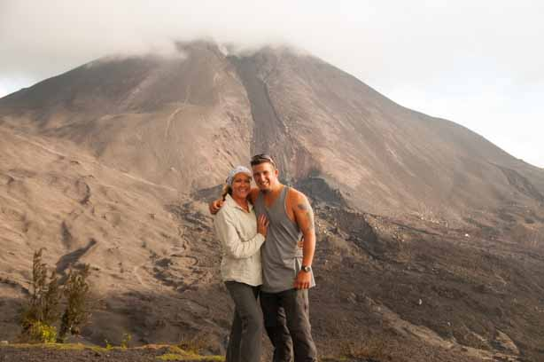 We made it! On top of Volcan Pacaya