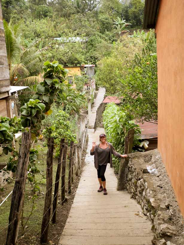 Exploring the sleepy town of Lanquin