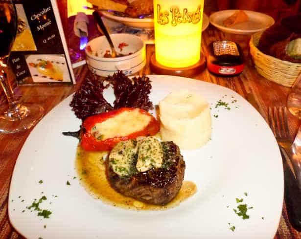Amazing filet mignon meal for about $11 USD