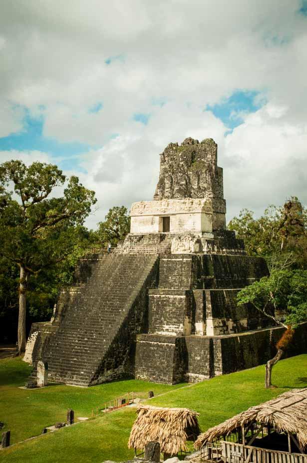 Maya temple at Tikal Guatemala Mayan Ruins