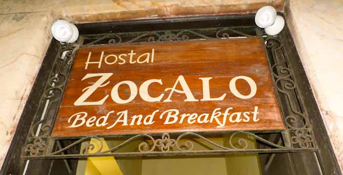Journey from Belize to Mexico: Zocalo Hostal