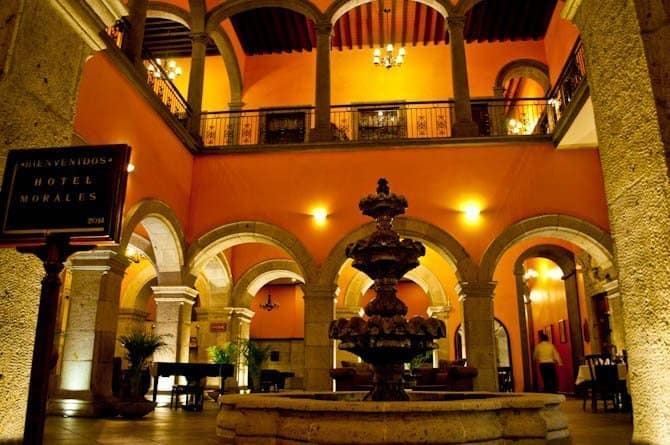 Hotel Morales lobby Guadalajara