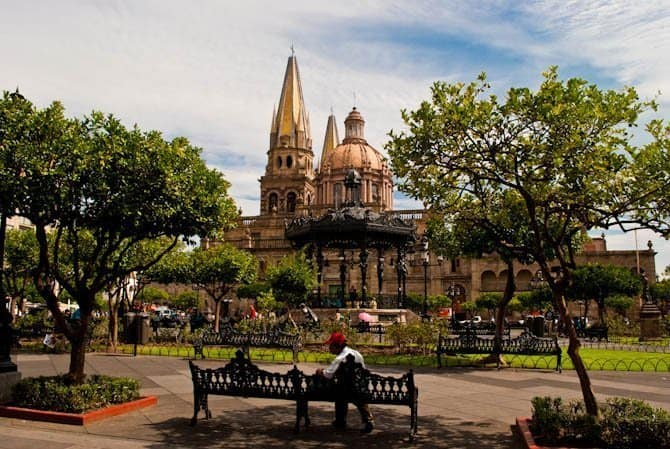 Things to do in Guadalajara Mexico: Plaza de Armas, Guadalajara