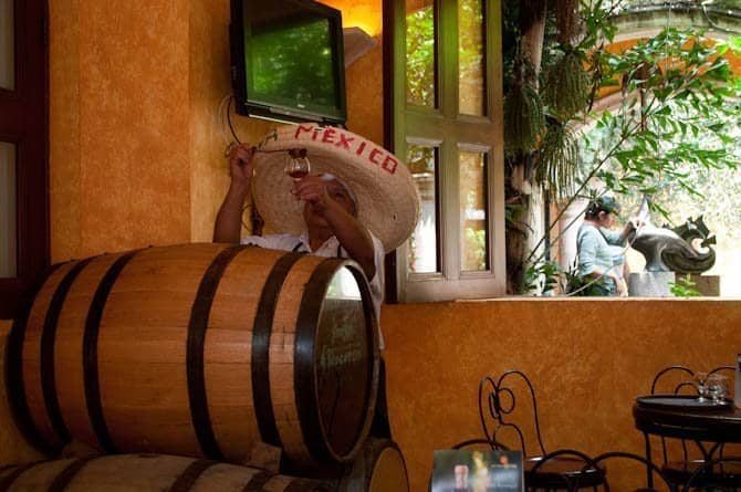 Tasting room at Jose Cuervo in Tequila, Mexico