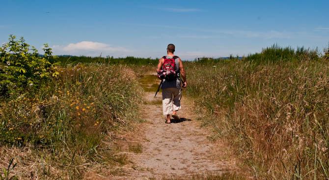 path accross the island