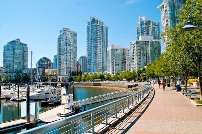 Seawall in Yaletown Vancouver