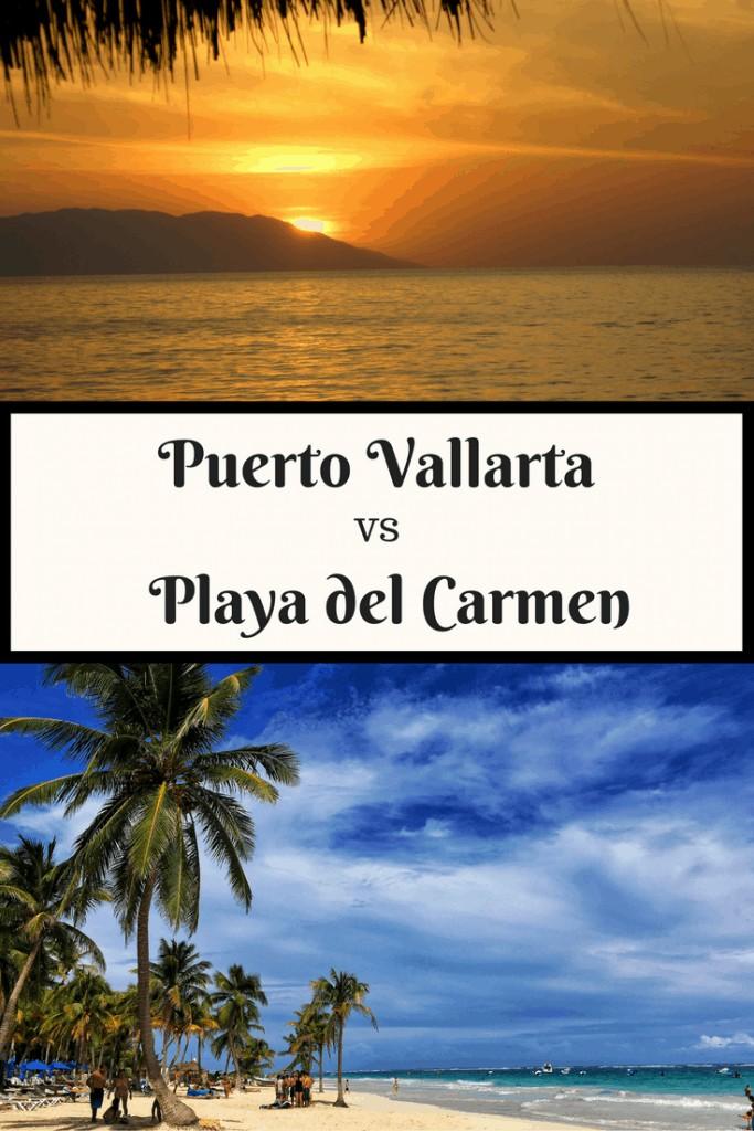 Pin of Puerto Vallarta vs Playa del Carmen