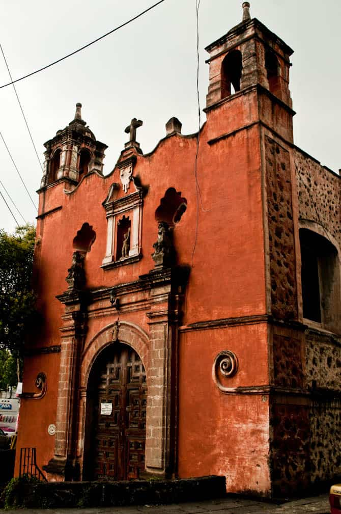Church in Coyoacan mexico city