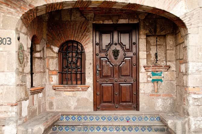 Stone home in Coyoacan Mexico City