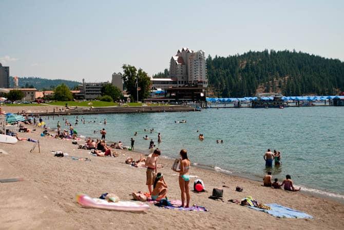 City Park beach Coeur d' Alene Idaho