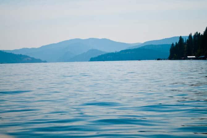 Coeur d' Alene lake