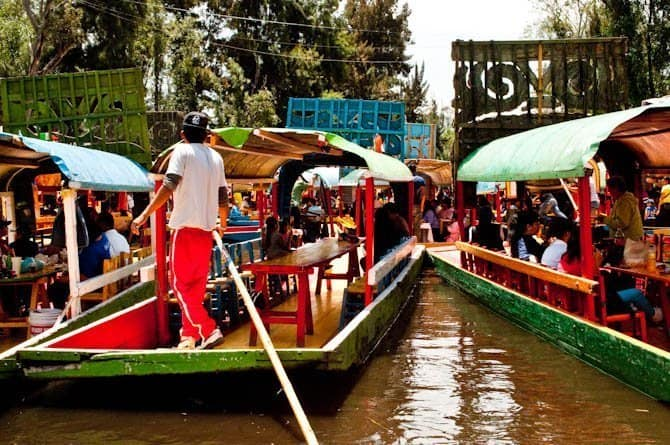 traffic jam in Xochimilco: Guide to Mexico City