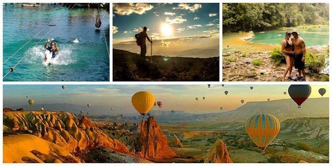 Hot air balloons, volcanos, semuc champey