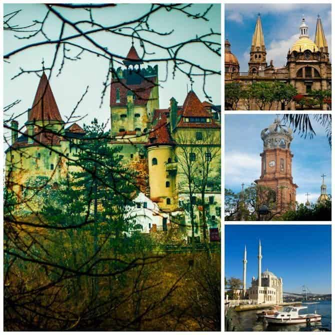 castles, churches and mosques in Europe