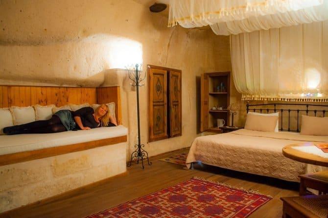 Cave room at the Kale Konak Hotel Cappadocia