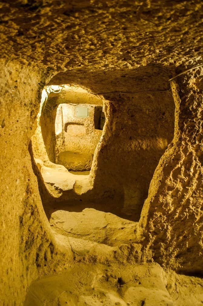 Underground city of Kaymakli in Cappadocia Turkey