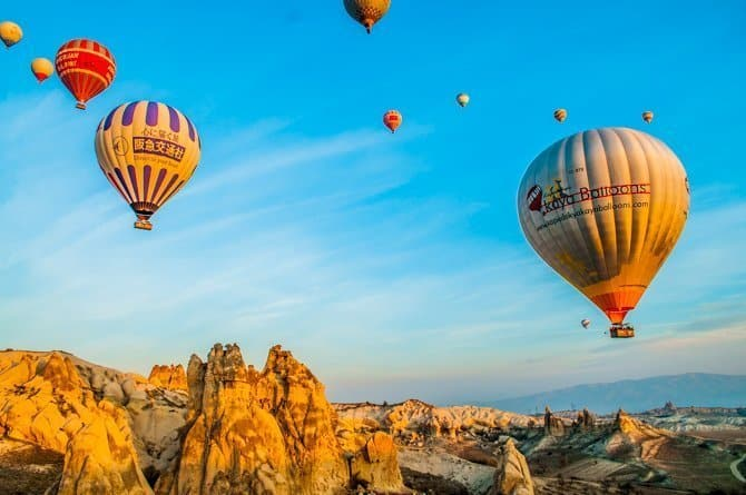 Cappadocia hot air balloon Turkey in off season