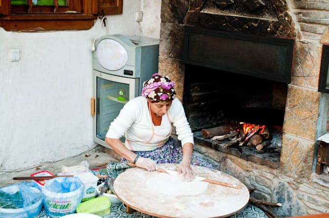 Old world cooking at Sirince Turkey