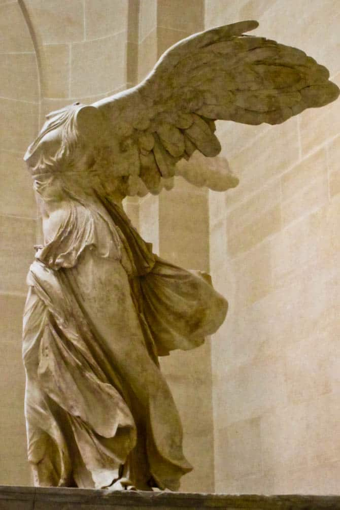 Winged Victory Louvre Paris in 48 hours