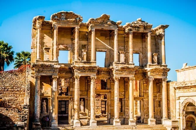 Ephesus Library Turkey in off season