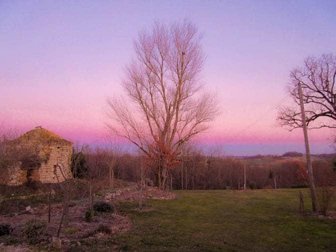 Pastel skies in France