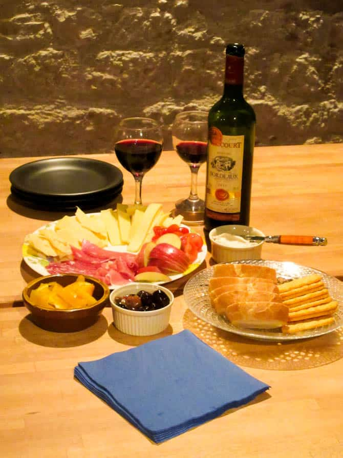 Local French wine & cheese