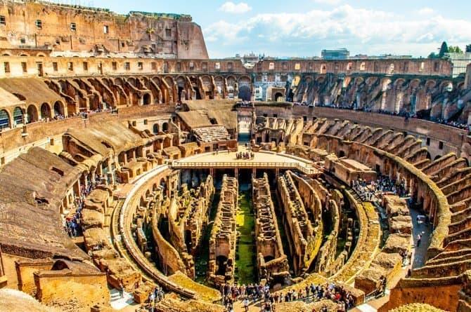 Roman Colosseum Underground Tour Floor view