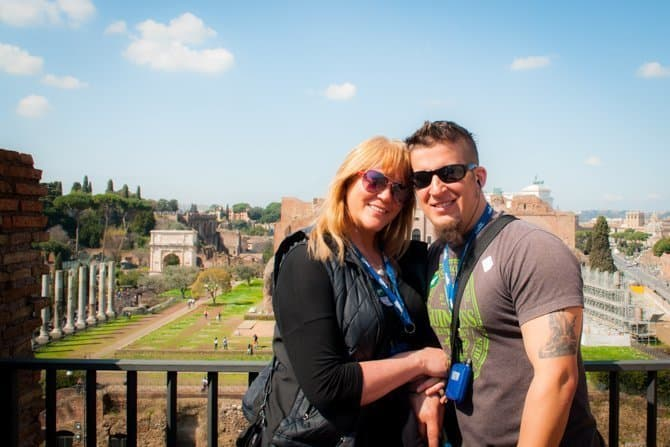 Roman Colosseum Underground Tour selfie