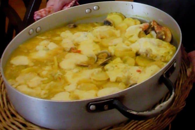 Cim i timba fisherman's casserole Tossa de Mar