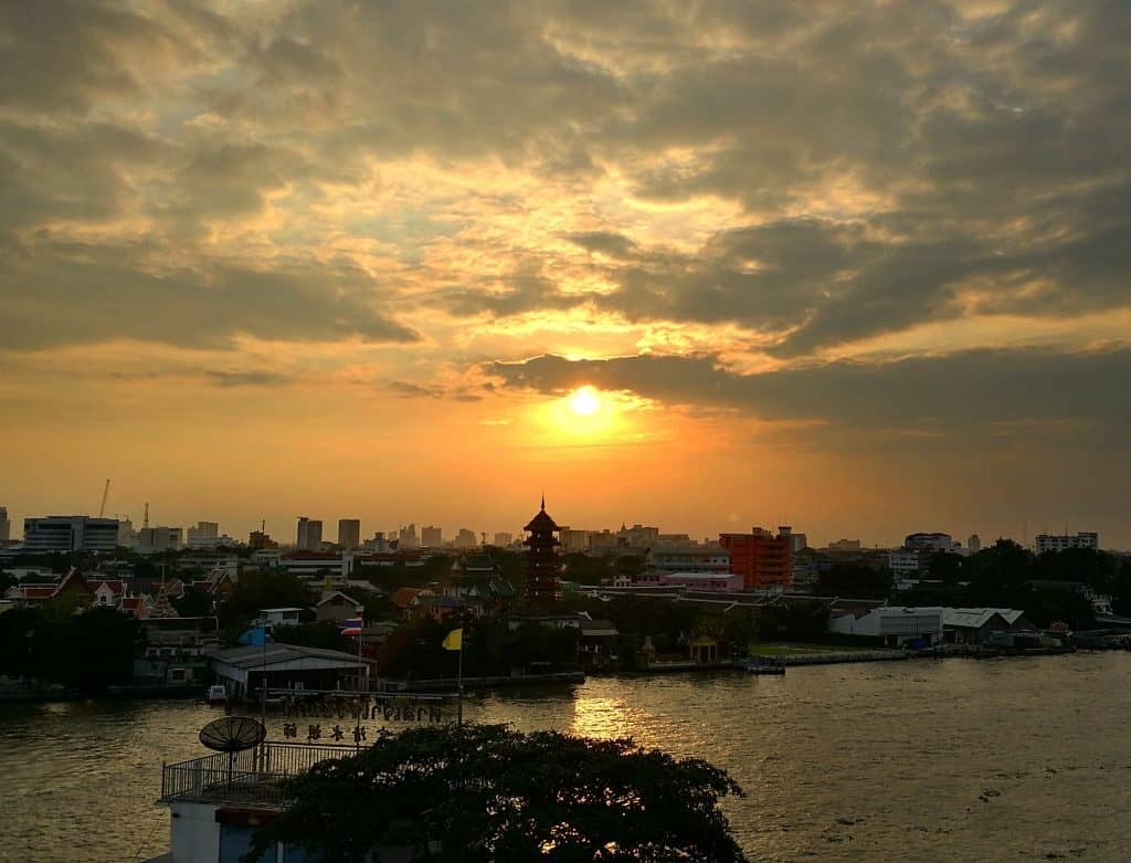 View from the Rivervibe Restaurant in Bangkok