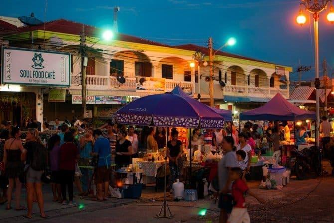 Street Market on the Thai Island of Koh Phangan