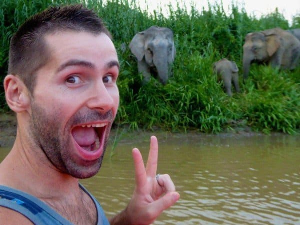 Where to go in southeaast asia Malaysia with Esmerelda-the-Elephant-photobombing-Nomadic Boys