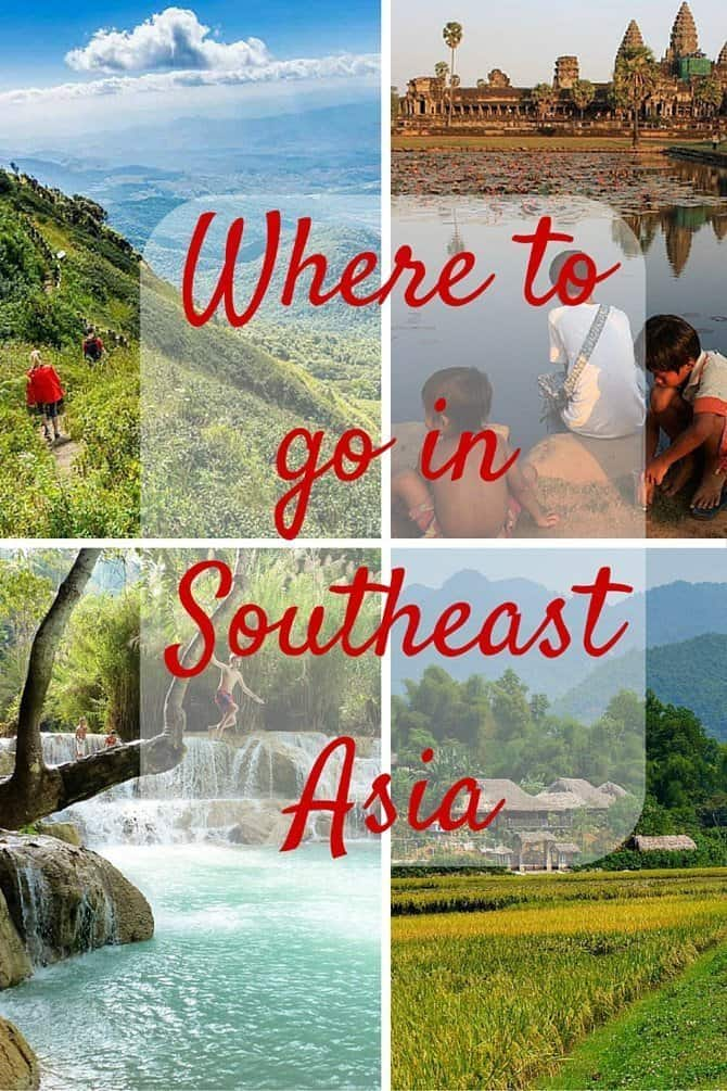Where to go in Southeast Asia Pinterest Image