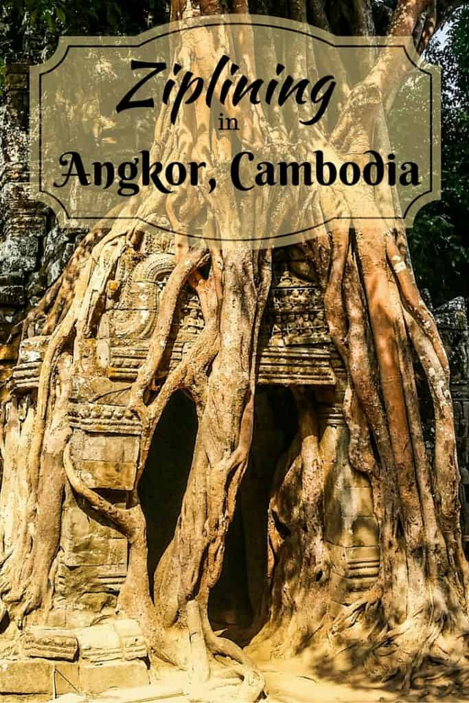 Ziplining in Angkor, Cambodia