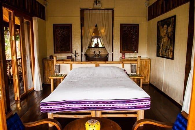Raw Food Detox Diet at Chivasuka Thailand Bungalow Deck Bedroom