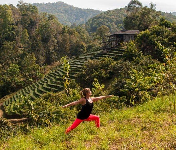 Raw Vegan detox yoga