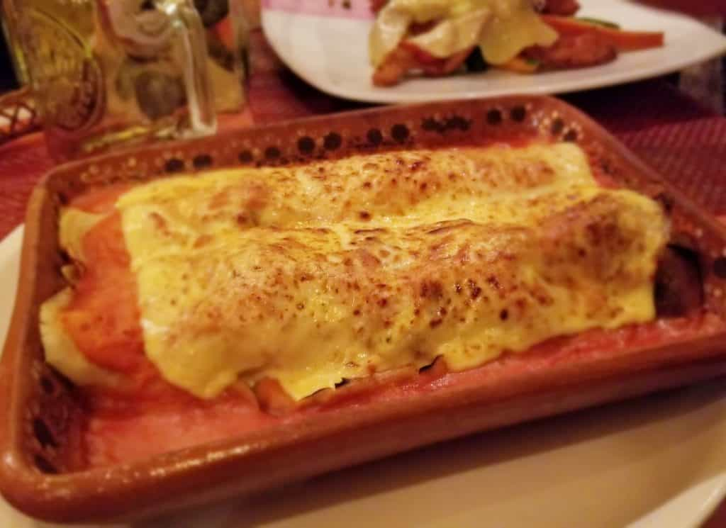 Playa del Carmen restaurants: Papa Charly cannelloni