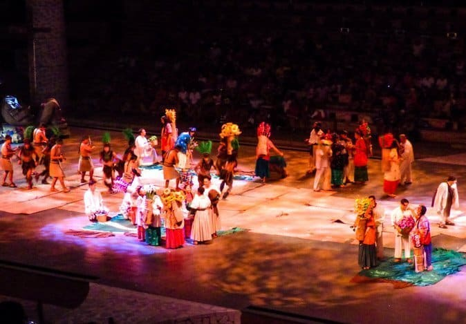 Scene from Xcaret Espectacular Show Playa del Carmen