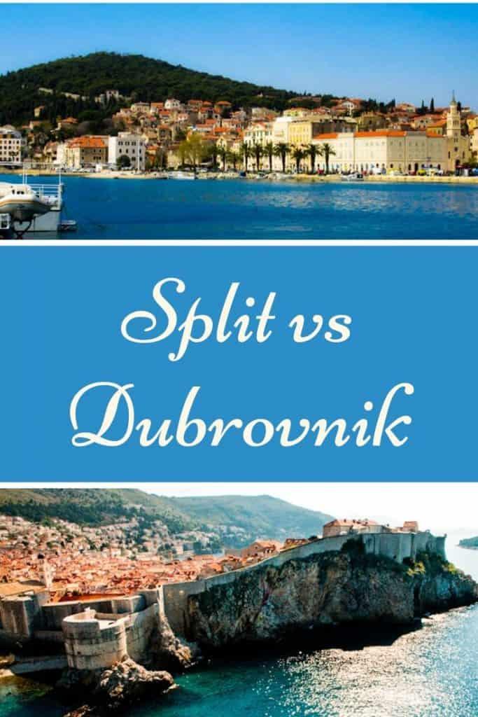 Pin with images of Split vs Dubrovnik, Croatia