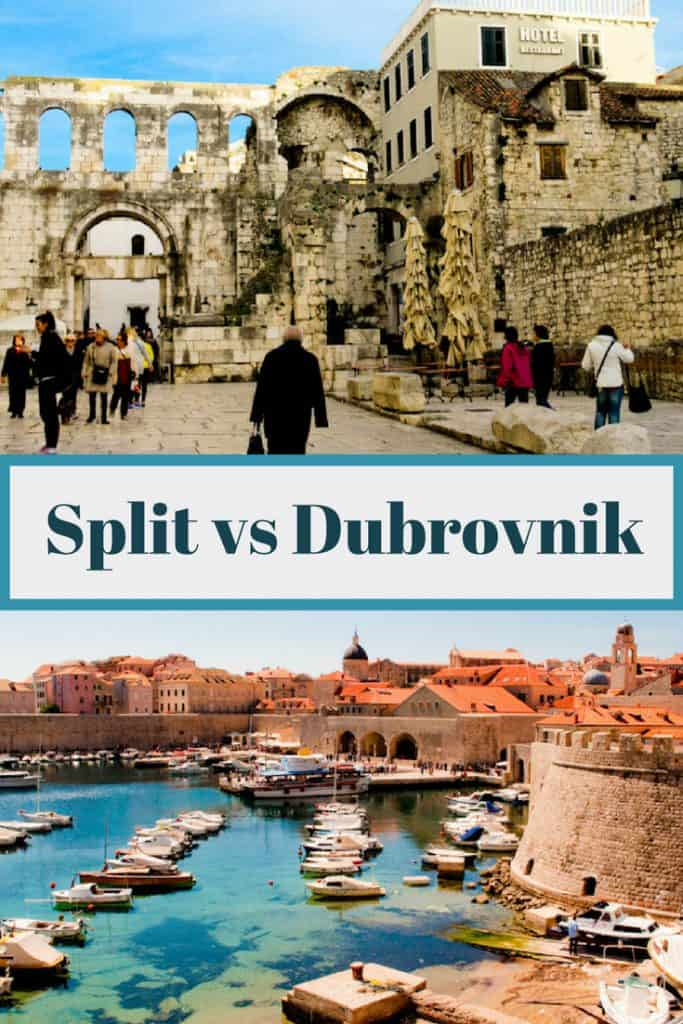 Images of Diocletian's Palace in Split or Dubrovnik harbor show why it's difficult to decide where to go. We have detailed the differences in this article.