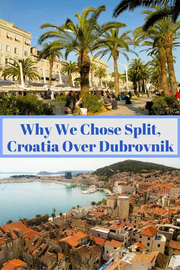 Images of the Riva waterfront in Split and the stunning harbor of Dubrovnik make it hard to decide between Split or Dubrovnik, Croatia.