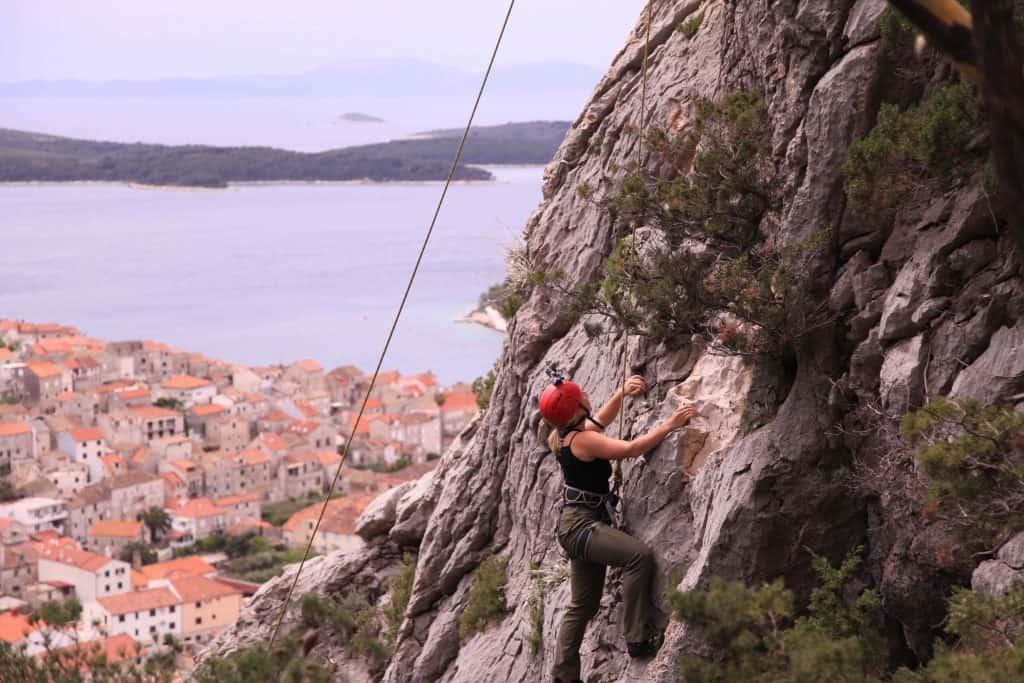 Rock-Climbing-in-Hvar Croatia Best adventure travel destinations Europe